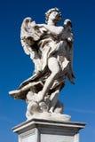 Statue de marbre de la passerelle de Sant'Angelo à Rome Images libres de droits