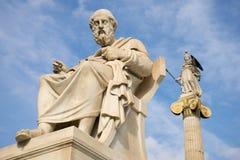 Statue de marbre du philosophe Plato du grec ancien Photos stock