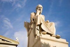 Statue de marbre du philosophe Socrates du grec ancien Image stock
