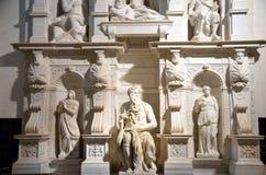 Statue de marbre de Moïse par Michaël Angelo images libres de droits