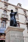 Statue de Marko Marulic, vieille ville de fente, FENTE, CROATIE images libres de droits