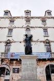 Statue de Marko Marulic, vieille ville de fente, FENTE, CROATIE photographie stock libre de droits