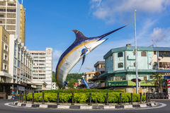 Statue de Marlin en Kota Kinabalu, Image libre de droits