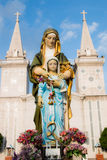 Statue de Mary et de Jésus Photos stock