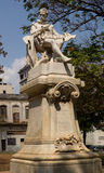 Statue de Miguel de Cervantes Saavandra images libres de droits