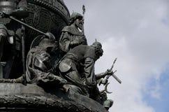 Statue de millénaire de Novgorod image libre de droits
