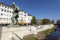 Statue de mineur dans Siegen, Allemagne Photographie stock libre de droits