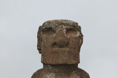 Statue de Moai à l'île de Pâques Photo libre de droits