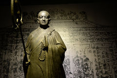 Statue de moine Xuanzang photos libres de droits