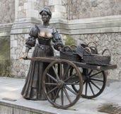 Statue de Molly Malone mythique photo stock