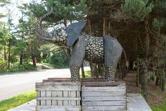 Statue de Monsieur Eds Elephant Museum Photos libres de droits