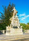 Statue de Mozart en parc de Burggarten Photo stock