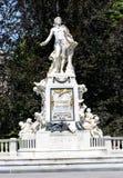 Statue de Mozart en parc de Burggarten à Vienne Photo stock