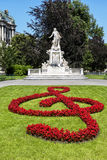 Statue de Mozart en parc de Burggarten à Vienne Image libre de droits