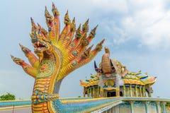 Statue de Naga dans le temple de Rai d'interdiction chez Nakhonratchasima Image stock