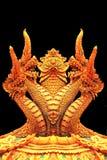 Statue de Naga dans le temple thaïlandais Photos libres de droits