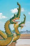 Statue de Nagas de Bouddha Photos libres de droits