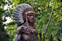 Statue de Natif américain de Bejing images libres de droits
