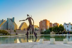 Statue de Neptune, Valence, Espagne Images stock