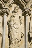 Statue de Nicholas de saint, Salisbury Photographie stock libre de droits