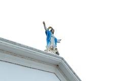 Statue de notre Madame avec des angles de bébé Images libres de droits