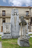 Statue de pèlerin Santo Domingo de la Calzada, La Rioja l'espagne Images libres de droits