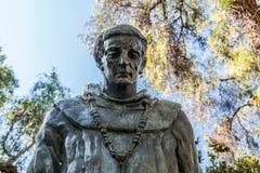 Statue de père Serra en parc de Presido, San Diego Images libres de droits