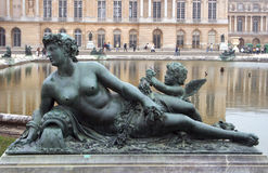 Statue de palais de Versailles Images libres de droits