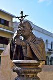 Statue de pape de John Paul II Photo stock