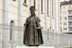 Statue de pape John Paul II en Bulgarie, Sofia Photographie stock