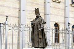 Statue de pape John Paul II en Bulgarie, Sofia Image libre de droits
