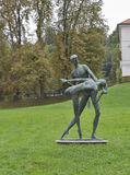 Statue de parc de Tivoli à Ljubljana Photographie stock libre de droits