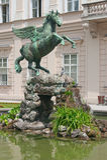 Statue de Pegasus dans le palais de Mirabell Photographie stock