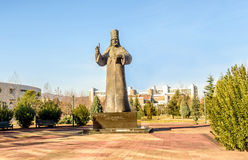 Statue de Petar I Petrovic Njegos à Podgorica, Monténégro Photos stock