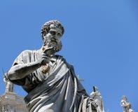 Statue de Peter de saint à Vatican images stock
