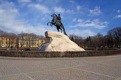 Statue de Peter le grand dans le St Petersbourg, Russie Image libre de droits