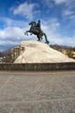 Statue de Peter le grand dans le St Petersbourg, Russie Images libres de droits