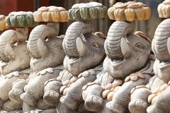 Statue de petit éléphant Photo stock