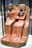 Statue de pharaon Amenhotep et de son épouse dans le musée égyptien à B Photographie stock