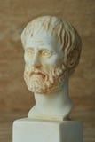 Statue de philosophe Aristotle du grec ancien Photos libres de droits