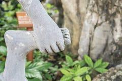 Statue de pierre d'Anchorite chez Wat Pho Images libres de droits