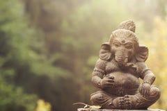 Statue de pierre de divinité de Ganesha Image libre de droits
