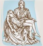Statue de Pieta de Michaël Angelo Image libre de droits