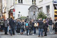 Statue de pipi de Bruxelles Photo libre de droits
