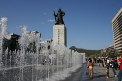 Statue de place de Gwanghwamun, Séoul, Corée du Sud photos libres de droits