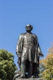 Statue de plan rapproché d'amiral arrière Sir John Franklin, Hobart Austral Image libre de droits