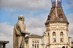 Statue de poète écossais Robert Burns Image libre de droits