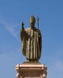 Statue de Pope John Paul Ii. l'Espagne. Jerez. Photographie stock libre de droits