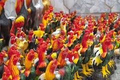 Statue de poulet en Thaïlande Photos stock