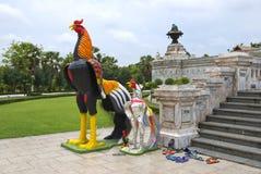 Statue de poulet en Thaïlande Images libres de droits